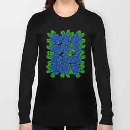 Blue Roses Long Sleeve T-shirt
