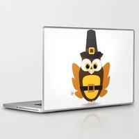 thanksgiving Laptop & iPad Skins featuring Owl Thanksgiving by Yatasi