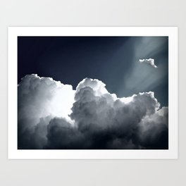 Cloud Photography Blue & White Inspirational Print Art Print