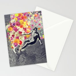 Flower surfing Stationery Cards