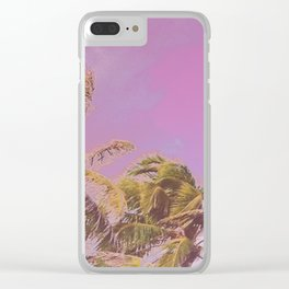 Swaying Palm Trees Clear iPhone Case