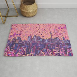 san antonio city skyline abstract 5 Rug