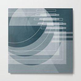 Stairs Heavenward in Shades of Aqua  Metal Print