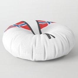 Norway flag Floor Pillow