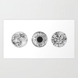 Moon Eye Diamond Art Print