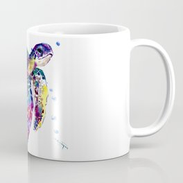 Sea Turtle Rainbow Colors, turtle design illustration artwork animals Coffee Mug