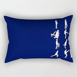 The TARDIS of Silly Walks Rectangular Pillow