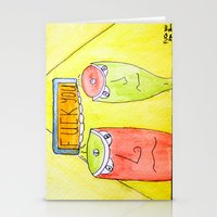 fuck you Stationery Cards featuring Fuck you by Joe Pansa