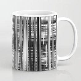 Black and White Abstract Stripe Design 707 Coffee Mug