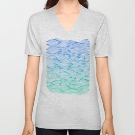 Ombré Waves Unisex V-Neck