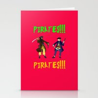 pirates Stationery Cards featuring Pirates!!! by Michael Keene