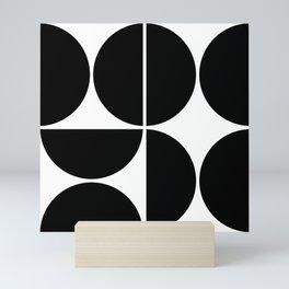 Mid Century Modern Black Square Mini Art Print