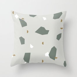 Shape and Color Study: Terrazzo + Stone Throw Pillow
