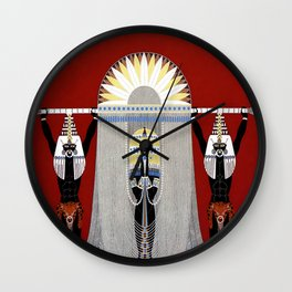 """The Egyptian"" Art Deco Illustration by Erté Wall Clock"