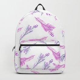 Neon pink lilac modern watercolor floral berries pattern Backpack