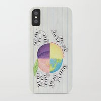 peach iPhone & iPod Cases featuring Peach by Larissa
