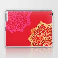 Happy bright lace flower - red Laptop & iPad Skin