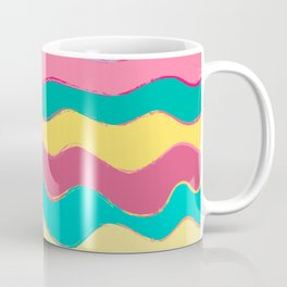 Wavy Pastel Tones Coffee Mug