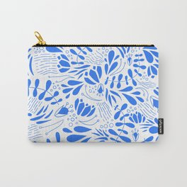 Flora in Blue Carry-All Pouch