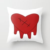gravity falls Throw Pillows featuring Gravity Falls - Robbie by Kayla Phan