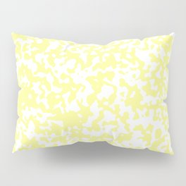 Small Spots - White and Pastel Yellow Pillow Sham