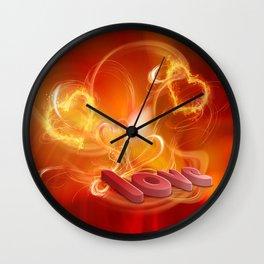 Flammende Liebe - Flaming Love Wall Clock