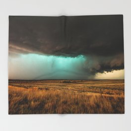 Jewel of the Plains - Storm in Texas Throw Blanket