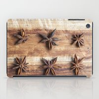 baking iPad Cases featuring Stars and Stripes of Baking - Star Anise by Jean Ladzinski