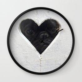 Peeking into your heart Wall Clock