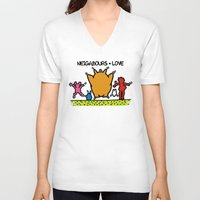 keith haring V-neck T-shirts featuring Keith Haring & The neighbours by le.duc