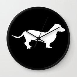 Dachshund on Black Wall Clock