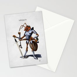 Soldiering On Stationery Cards