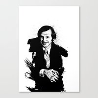 jack Canvas Prints featuring jack by Tom Kitchen