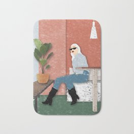 Chill in Cafe Bath Mat