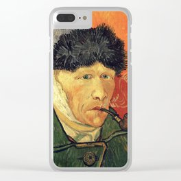 Vincent Van Gogh - Self Portrait  with bandaged ear and pipe Clear iPhone Case