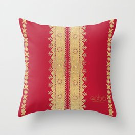 Traditional Dress - Red Throw Pillow