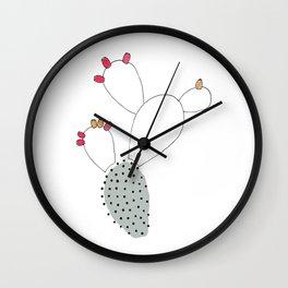 Dotted Nopal Cactus Wall Clock