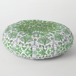 Her Mermaid Sea Kaleido Green Floor Pillow