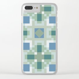 Gentle Shaded Plaid Clear iPhone Case