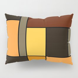 Mondrian Autumn Pillow Sham