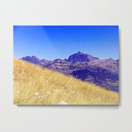 Blue:Gold Metal Print