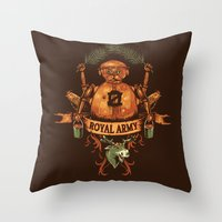 army Throw Pillows featuring Royal Army by Hillary White
