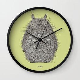 Avocado Totoro Wall Clock