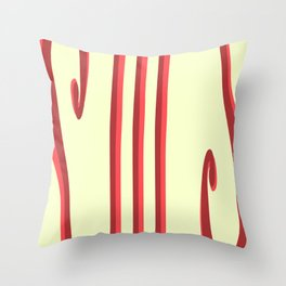 Cheesecake With Strawberry Drizzle Throw Pillow