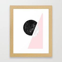 Modern Minimalist Black And White Marble Art, Scandinavian Minimalism, Large Print Wall Art Decor Framed Art Print