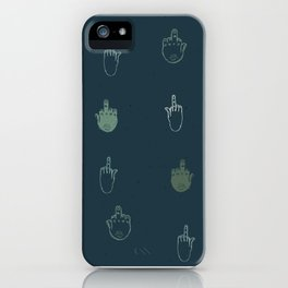 The finger iPhone Case