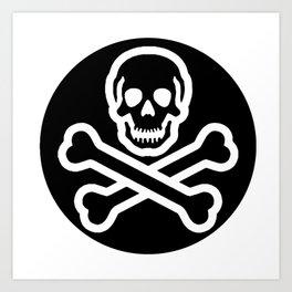 skull logo design Art Print