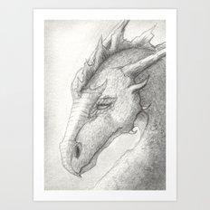 Dragon, Eyes Closed Art Print