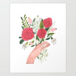 Hand bouquet Art Print