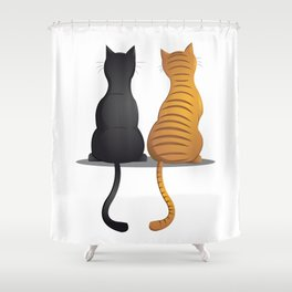 cat buddies Shower Curtain